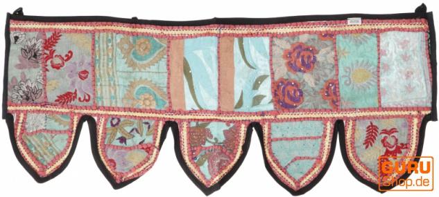 Orientalischer Wandbehang, indischer Toran, Wimpel Wandteppich, Wanddekoration, Tür Deko Einzelstück 90*30 cm - Design 38