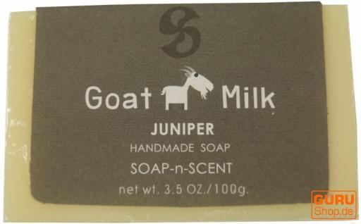 Handgemachte Ziegenmilch Seife, 100 g Fair Trade - Wacholder