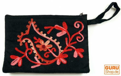 Besticktes Portemonnaie aus Kaschmir - 1