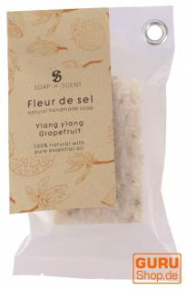 Handgemachte Duftseife Fleur de Sel, 100g Fair, Trade - Ylang Ylang-Grapefruit