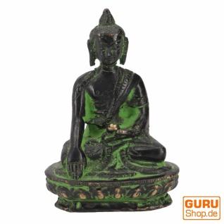 Buddha Statue Ratnasambhava aus Messing Bhumisparsa Varada Mudra 8 cm - Modell 6