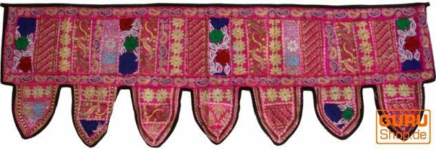 Orientalischer Wandbehang, indischer Toran, Wimpel Wandteppich, Wanddekoration, Tür Deko Einzelstück 150*45 cm - Design 5