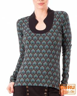 Pullover, Langarmshirt aus Bio-Baumwolle / Chapati Design - black retro