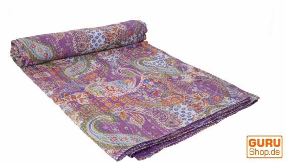 Quilt, Steppdecke, Tagesdecke Bettüberwurf, Besticktes Tuch, Indischer Bettüberwurf, Tagesdecke - Muster 36
