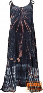 Boho Batikkleid, Strandkleid, Sommerkleid in Übergröße - blauschwarz