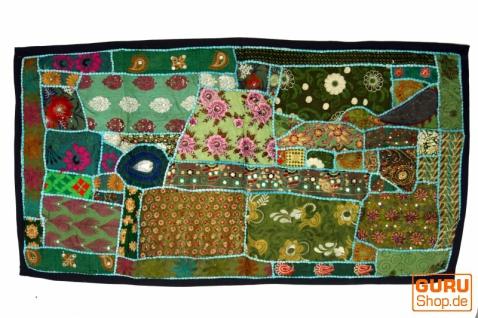 Patchwork Wandbehang, Wandteppich, Einzelstück 125*65 cm - Muster 20