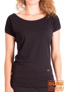 T-Shirt aus Bio-Baumwolle / Chapati Design - black