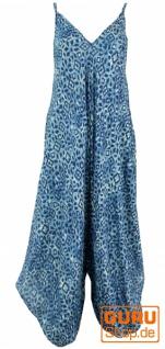 Boho Jumpsuit, Sommer Overall, Hosenkleid - indigoblau