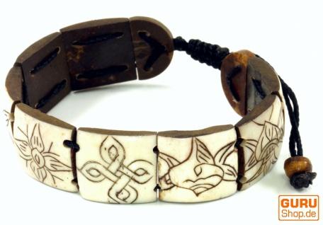 Buddhistisches Armband Ashtamangala - weiß Modell 2 - Vorschau