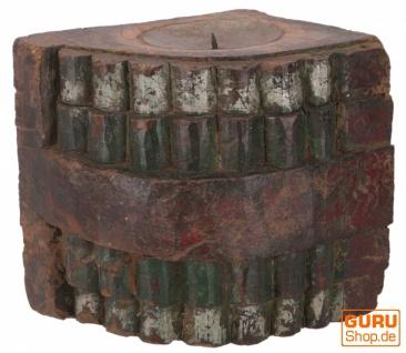 Massiver Indischer Wand Kerzenhalter, Kerzenständer `Rajasthan`- Einzelstück