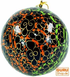 Upcycling Weihnachtskugel aus Pappmachee, Handbemalter Christbaumschmuck, Kaschmirkugeln - Muster 8
