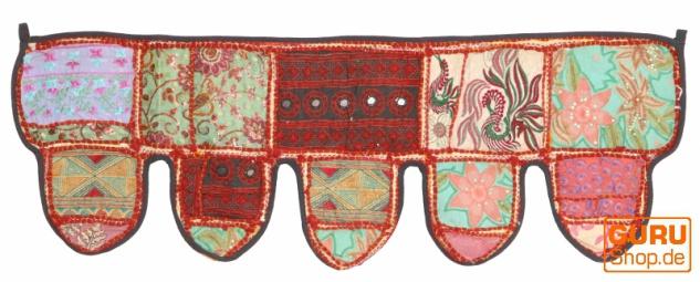 Orientalischer Wandbehang, indischer Toran, Wimpel Wandteppich, Wanddekoration, Tür Deko Einzelstück 90*30 cm - Design 7