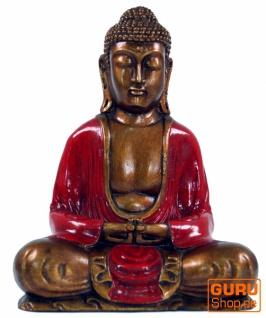 Sitzender Buddha im Dhyana Mudra aus Recin - rot
