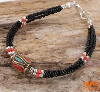 Tibetschmuck Perlenarmband, Ethnoarmband - Modell 1