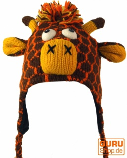 Kindermütze Giraffe