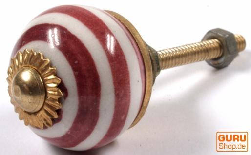 Kleiner Möbelknopf aus Keramik, Möbelknauf Möbelgriff, Schranktürknöpfe, Möbelknöpfe, Schubladengriff - Modell 17