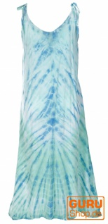 Boho Batikkleid, Strandkleid, Sommerkleid in Übergröße - aqua - Vorschau 3