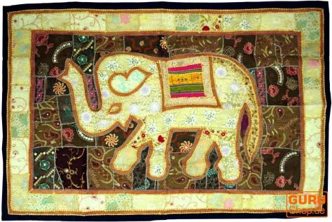 Indischer Wandteppich Patchwork Wandbehang, Einzelstück 150*100 cm - Muster 27