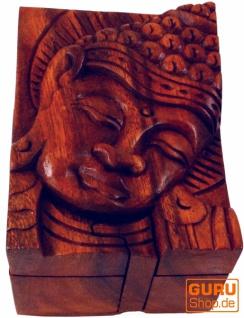 Puzzlebox, Schmuckschatulle, Magic Box, Schachtel mit Geheim Verschluß - Buddha 1