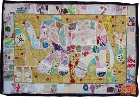 Indischer Wandteppich Patchwork Wandbehang, Einzelstück 150*100 cm - Muster 56