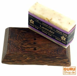 Exotisches Seifenset, Seife & Kokosholz Seifenschale - Lavender 1 - Vorschau 3