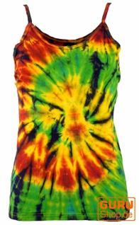 Farbenfrohes Goa-Batik Top, Batiktop - rasta