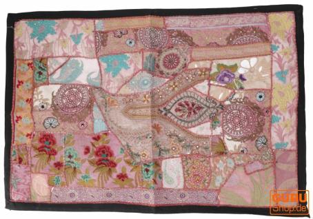 Indischer Wandteppich Patchwork Wandbehang, Einzelstück 90*65 cm - Muster 23