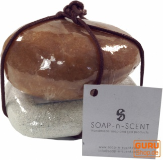 Seifenset Soap on the Rock, 90 g Seife auf Bimsstein, Fair Trade - Vanilla