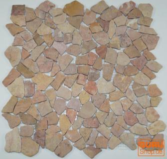 Mosaik Flächen Fliesen aus Marmor-rot (J-01) - Design 7