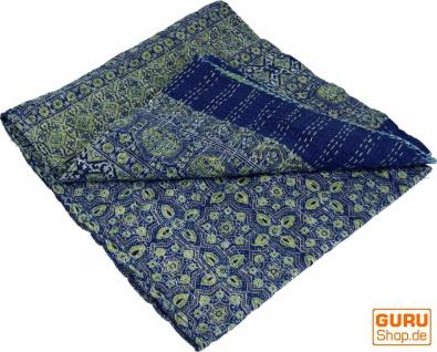 Quilt, Steppdecke, Tagesdecke Bettüberwurf, Besticktes Tuch, Indischer Bettüberwurf, Tagesdecke - Muster 12