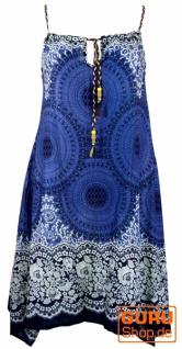 Boho Mandala Midikleid, Trägerkleid, Strandkleid für starke Frauen - indigo