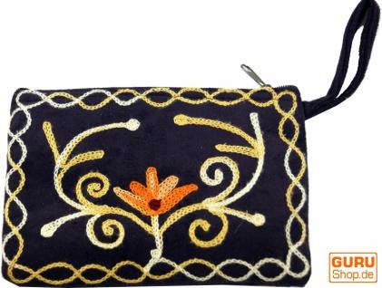 Besticktes Portemonnaie aus Kaschmir - 4