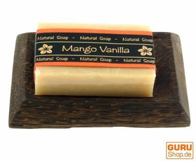 Exotisches Seifenset, Seife & Kokosholz Seifenschale - Mango - Vorschau 1