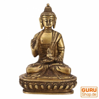 Buddha Statue aus Messing Amoghasiddhi Buddha 14 cm - Modell 14