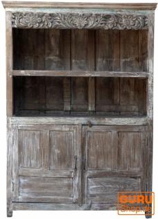 Bücherregal, Küchenregal mit 2 offenen Fächern und 2 Türen