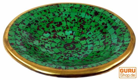 Runde Mosaikschale, Untersetzer, Dekoschale, handgearbeitete Keramik & Glas Obst Schale - Design 11