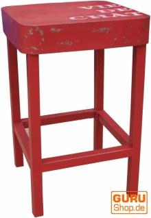 Stehtisch, Beistelltisch aus lackiertem Metall - rot