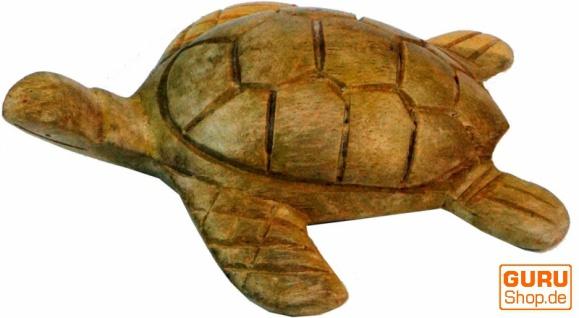 Geschnitzte Deko Schildkröte in 2 Größen - Vorschau 3