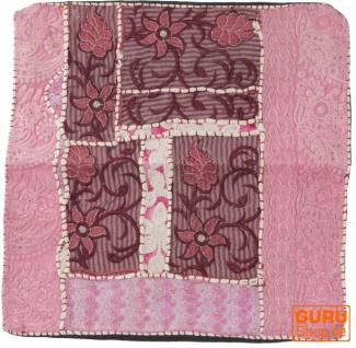 Patchwork Kissenhülle, Dekokissen Bezug aus Rajasthan, Einzelstück - Muster 16