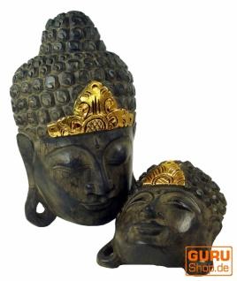 Buddha Maske mit Goldverzierung in 3 Größen