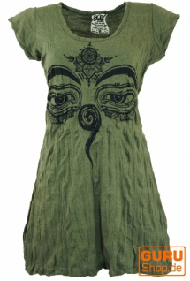 Sure Long Shirt, Minikleid Buddhas Augen - olive