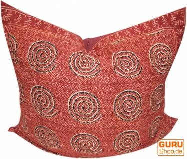 XL Kissenbezug Blockdruck, Kissenhülle Ethno, Dekokissen Bezug mit traditionellem Design - Muster 2