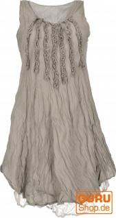 Boho Krinkelkleid, Lagenkleid, Minikleid, Sommerkleid, Strandkleid - taupe