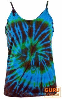Farbenfrohes Goa-Batik Top, Batiktop - türkis
