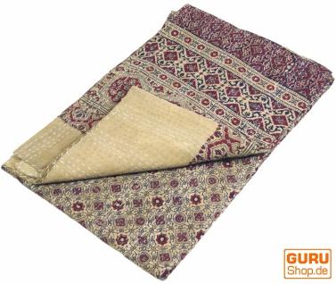 Quilt, Steppdecke, Tagesdecke Bettüberwurf, Besticktes Tuch, Indischer Bettüberwurf, Tagesdecke - Muster 28