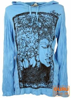 Sure Langarmshirt, Kapuzenshirt Mantra Buddha - hellblau