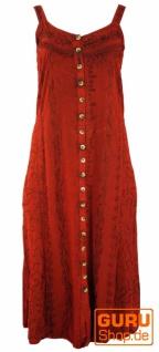 Besticktes Boho Sommerkleid, indisches Hippie Trägerkleid, rot - Design 16