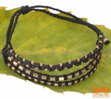 Perlenarmband, Makrameee Armband, Herren Armband - schwarz