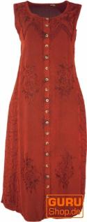 Besticktes Boho Sommerkleid, indisches Hippie Kleid, rot - Design 14
