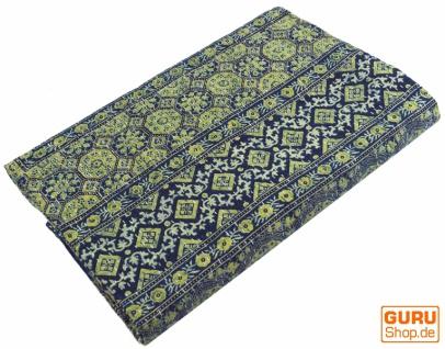 Quilt, Steppdecke, Tagesdecke Bettüberwurf, Besticktes Tuch, Indischer Bettüberwurf, Tagesdecke - Muster 21